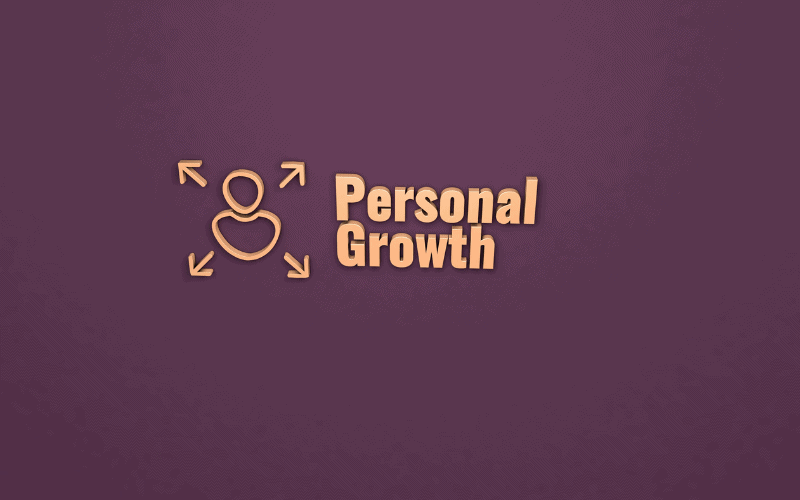 Personal Growth wrote in gold
